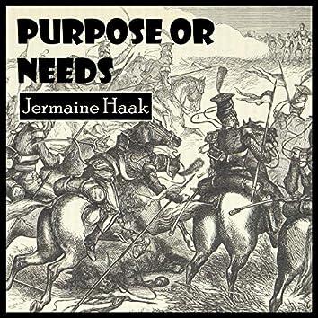 Purpose or Needs