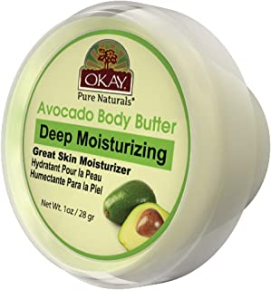 Okay Avocado Body Butter For All Skin Types Deep Moisturizing Natural Ingredients 1 Ounce, 1 Ounce (Pack of 48)