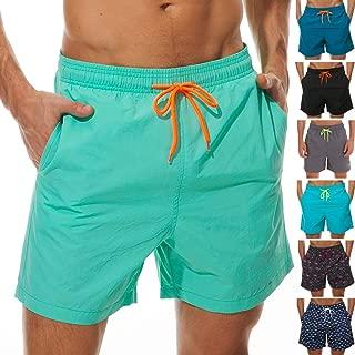 silkworld 男式图案泳裤速干沙滩短裤带口袋