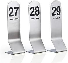 Roestvrijstalen tanknummer Kaarten, 60 × 210mm, restaurant/café/bar zitting tabel nummers 1-50/1-100, Bruiloft verjaardags...