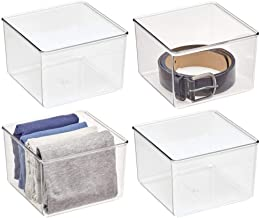 mDesign Plastic Drawer Organizer Box, Storage Organizer Bin Container; for Closets, Bedrooms, Use for Leggings, Socks, Tie...