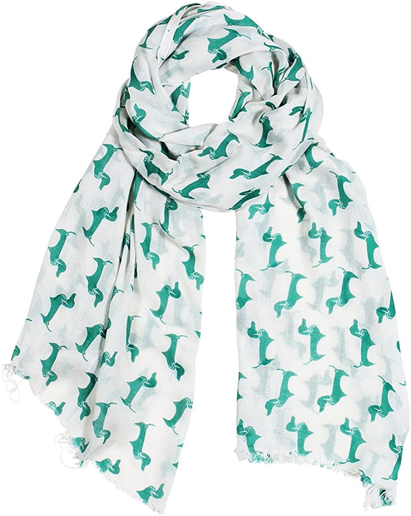 Super beauty product restock quality top! 11 COLORS Bella Doxie Dachshund Prin Scarf Dog Animal Women's Arlington Mall