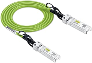 [Green Cable] 10G SFP+ DAC Cable - 10GBASE-CU Passive Direct Attach Copper Twinax SFP Cable for Ubiquiti Devices, 0.5m