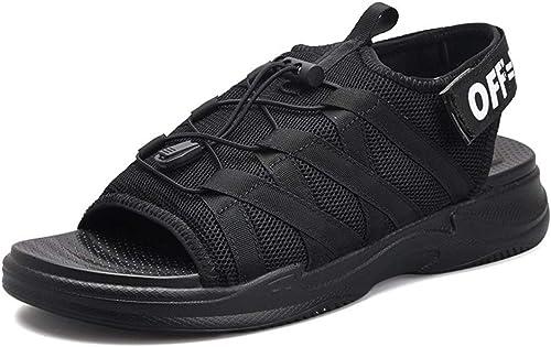 ChengxiO Sandales Hommes Surface Mesh 2019 Eté Mode Chaussures de Plage Décontractées Confortable Inserts Hommes Super Fire Chaussures Chaussures
