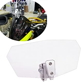 HOZAN Clear Lens Adjustable Motorcycle Extension Windshield for Honda Suzuki Triumph BMW R1200GS
