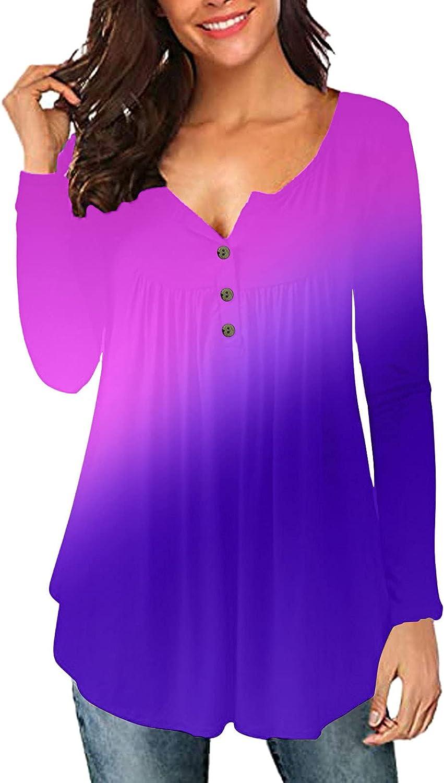 POLLYANNA KEONG Womens Sweatshirt,Women's Casual Comfort Tunic Loose Fitting Long Sleeve Tops Cute Flare Flowy Blouse