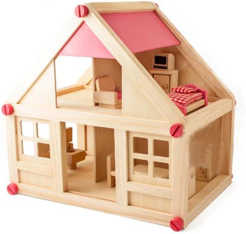 Black Temptation Creative Small Wood Play House Toys Kids Boys Games Toys House Model Toys