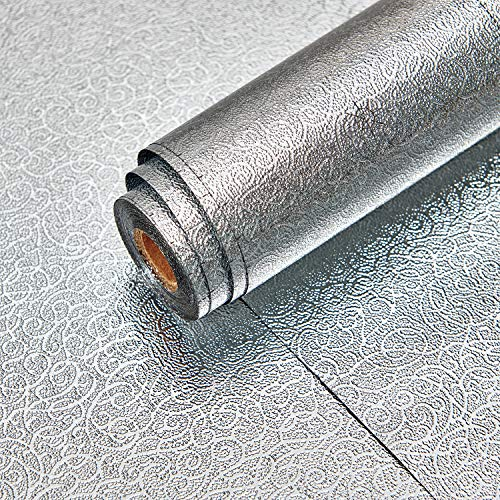 Lifetree Ölfester Aufkleber Klebefolie Küchenfolie Aluminiumfolie Selbstklebend Folie Möbelfolie Wasserdicht Rattan Muster 40x300cm