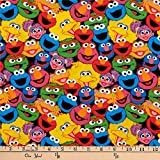 EXCLUSIVE Sesame Street Digital Characters Packed, Multi, Fabric by the Yard
