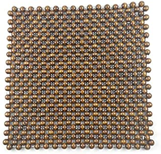 DKX Breathable Wooden Beaded Office Massage Seat Cover Portable Ultra Comfort Universal Summer Car Cushion Travel Air Vent...