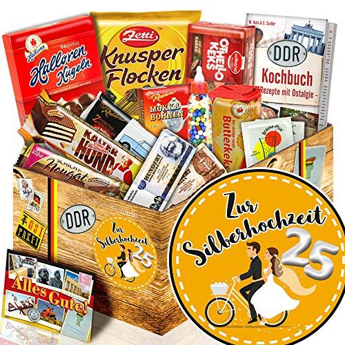 Zur Silberhochzeit + DDR Box Süßigkeiten + lustige Ideen zur Silberhochzeit