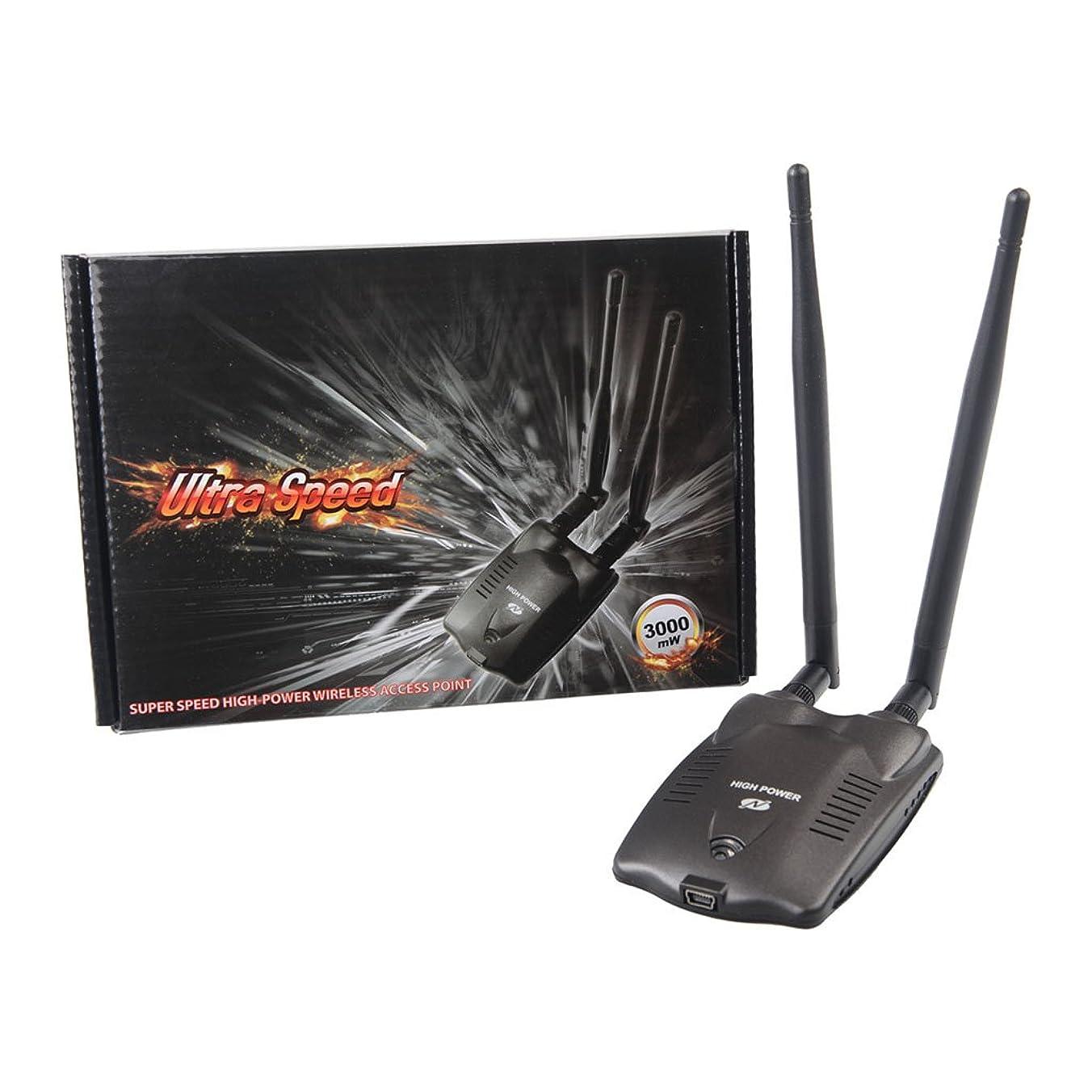 くしゃみ種牧師Baoyouls ネットワークカードワイヤレスネットワークカードBT-N9100ハイパワー3000mW PCワイヤレスWifiアダプターロングレンジデュアルアンテナ