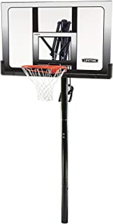 Lifetime 71281 In Ground Power Lift Basketball System, 52 Inch Shatterproof Backboard