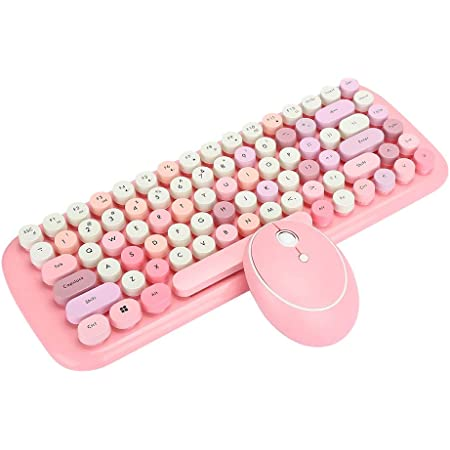 wiFndTu Combo de teclado inalámbrico y ratón recargable de ...