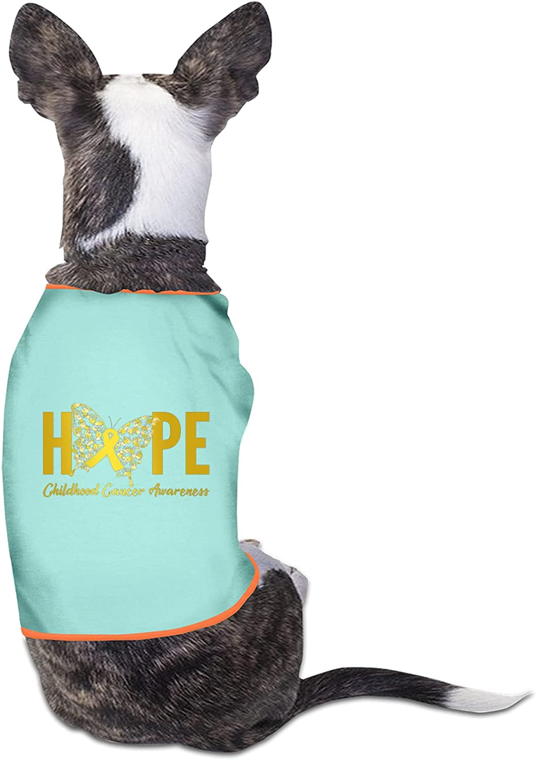 Hope Childhood Cancer Awareness Soldering Butterfly Pet Mail order Printed Shirts Pup