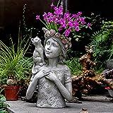 LOSAYM Estatuas para Jardín Esculturas Y Estatuas De Jardín Chica De...