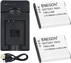 ENEGON Pack Replacement Li-50B Battery and Micro USB Charger for Olympus Stylus SZ-10  SZ-12  SZ-15  1010  1020  1030  9000  9010  SP-800UZ  SP-810UZ  SP-720UZiHS  VR-340  TG-610
