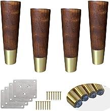 4 stks Solid Wood Sofa Been,Tapered Meubilair Vervangende Been,Rubber Hout Koffie Tafelvoeten,voor bank/Cabinet/Ottomaan/T...