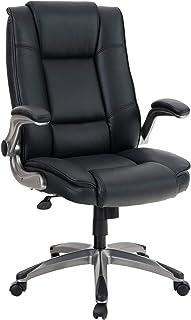ALPHA HOME High Back Executive Chair Ergonomic Office Chair Managerial Computer Desk Chair Flip Up Armrest Big Tall Adjust...