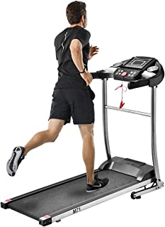 Julyfox Home Folding Treadmill Running Machine, 1.5HP Motorized Electric Treadmill Walking Jogging Home Exercise Machine W/Safety Key Heart Rate Monitor Cup Holder Quiet