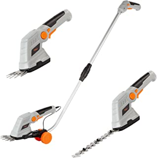 VonHaus 7.2V 2 in 1 Grass and Hedge Trimmer - Battery Powered Cordless, Interchangeable Blades, Easy Tool Blade Change, Te...