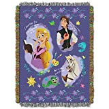 Disney's Princesses, 'Storytime Tangled' Woven Tapestry Throw Blanket, 48' x 60', Multi Color