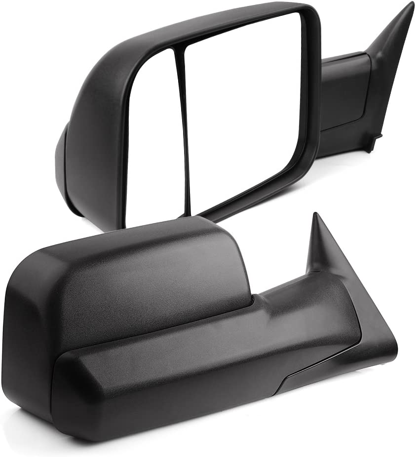 YITAMOTOR Towing Mirrors Compatible with Dodge Ram, Manual Flip