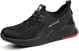 VOLKLAND Men Lightweight Steel Toe Safety Shoes