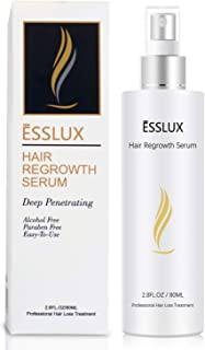ESSLUX Hair Growth Serum, Hair Regrowth Spray, Professional Treatment for Hair Loss and Hair Thinning, Alcohol-Free, Suitable for Men and Women (80ML)