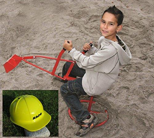 Original Metall Sandbagger & 1 x Bauhelm Gratis