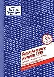 AVERY Zweckform 1758 Kassenbestandsrechnung (A5, selbstdurchschreibend, von Rechtsexperten geprüft, für Deutschland u. Österreich zur ordnungsgemäßen, kostengünstigen Buchführung, 2x40Blatt) weiß/gelb