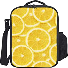 Hatmore-Portable Thermal Insulation and Cold Preservation Dinner Lunch Bags Tote for Work Travel School Picnic,Lemon Slices Yellow