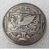 Moneda antigua de la corona Británica-Galesa de 1887 sin circulación,...