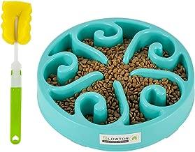 slow Ton Anti de LF-Tech para perro, diseño con espiral Non Skid Base para la largo Same Forro con esponja de limpieza Pincel para perros gatos
