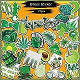 BLOUR 25pcs niedliche selbstgemachte grüne Pflanze Tierfrucht Aufkleber DIY Tagebuch Album...