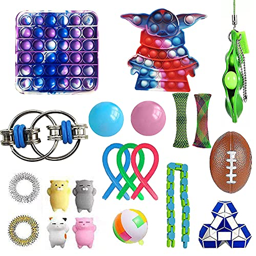 NUENUN 22 pcsSensory Fidget Toys Pack for Kids or Adults Figetget Toys Pack Hand Toys Stress Anxiety Relief Toys Set for ADHD (Style 2)
