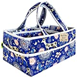 Diaper Bag Organizer Newborn Boy–Extra Large Caddy Organizer, Portable Nursery Organizer Baby Basket for Baby Necessities and New Born Babies Items. Baby Shower Gifts for Boys & Girls (Blue2)