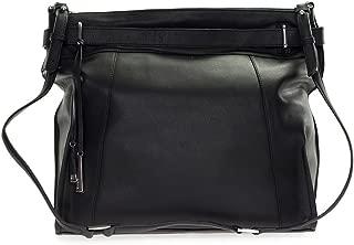 Italia Made Black Leather Large Carryall Satchel Shoulder Bag