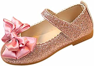 Bebe Fille Princess Chaussures Ballerine Noeud Soiree Princess Chaussures Paillette Mary Jane EU 20-26