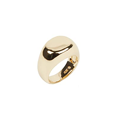 Rebecca Minkoff Rounded Signet Ring (Gold) Ring