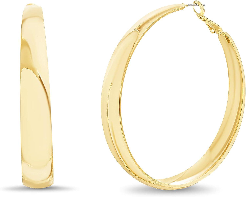 Steve Madden Flat Wide Hoop Earrings for Women