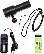 Flashlight Ultravioleting Flashlight Underwater Photography Video Light 2 365Nm Ultraviolet Light + 4 Xp-G2 White Light Le...