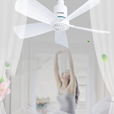 Ventilateur de Plafond, Ventilateur de Brise D'éTude de Chambre à Coucher à la Maison, Petit Ventilateur Suspendu Silenci