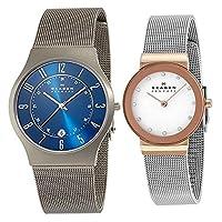 [スカーゲン]SKAGEN ペアウォッチ チタニウム ステンレス メッシュブレス 233XLTTN358SRSC 腕時計 [並行輸入品]