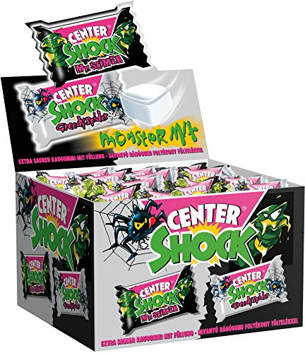 Center Shock Monster Mix | Box mit 100 Kaugummis | Extra-sauer | Cola- und Blutorangen-Geschmack