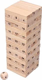 Mini Tower Wood Block Stacking Game - 51 Pcs