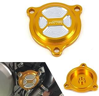 JFG RACING CNC Billet Aluminum Gold Oil Filter Covers Motorcycle Gas Caps For Suzuki DRZ400S DRZ400SM 2000-2015