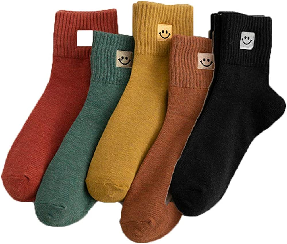 SDFG Socks Challenge the lowest price of Japan ☆ Fashion Cartoon New online shopping Lovely Smile Face