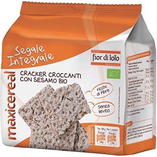 Fior Di Loto Crackers Di Segale Integrale Con Sesamo Prodotto Bio 200g