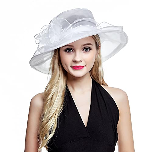 aab09a9494051 Women s Organza Church Derby Fascinator Cap Kentucky Tea Party Wedding Hat